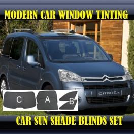 Stores rideaux pare-soleil sur mesure pour Citroen Berlingo Mk2 2008-2013 5 fenêtres (small) 10metal,12supports