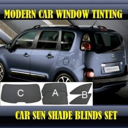 Stores rideaux pare-soleil sur mesure pour Citroen C3 Picasso 2008-2013 5 fenêtres 12metal,10supports