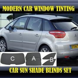 Stores rideaux pare-soleil sur mesure pour Citroen C4 Picasso 2008-2013 5 fenêtres 20supports