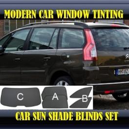 Stores rideaux pare-soleil sur mesure pour Citroen Grand C4 Picasso 2007-2013 5 fenêtres 12 metal, 12 supports