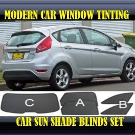 Stores rideaux pare-soleil sur mesure pour Ford Fiesta Mk6 2009-2013 3 fenêtres+2 quarters 14 supports, 3 metal
