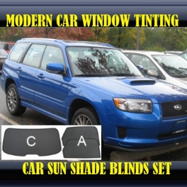 Stores rideaux pare-soleil sur mesure pour Subaru Forester SG Mk2 2003-2008 3 fenêtres 16 supports