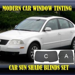 Stores rideaux pare-soleil sur mesure pour Volkswagen Passat B5/B5.5 1996-2005 3 fenêtres+2 quarters 8 metal,16supports