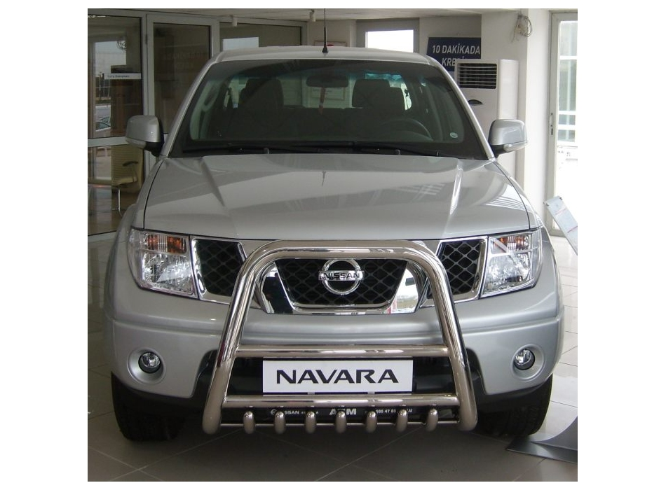 Nissan Navara D40 Front High Bull Bar With Lower Grille Fgbh01