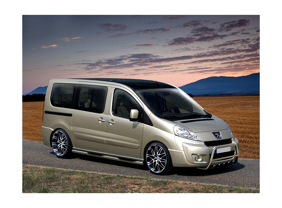 Fiat Scudo Mk2 Front Bull Bar With Bottom Grille Fgbm01