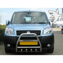 FIAT Doblo Mk1 Front Bull-Bar With Bottom Grille and Logo FGBM02