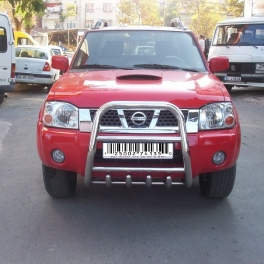 NISSAN Navara D22 Front High Bull-Bar With Lower Grille and Logo FGBH02