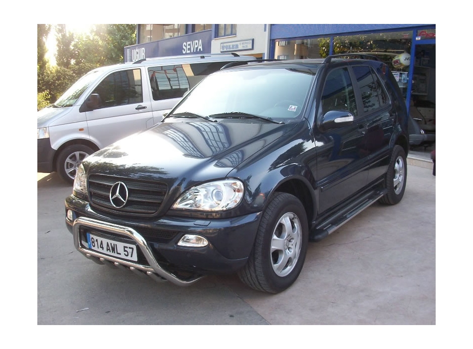 Mercedes Ml W163 Front Bull Bar With Bottom Grille Fgbm01