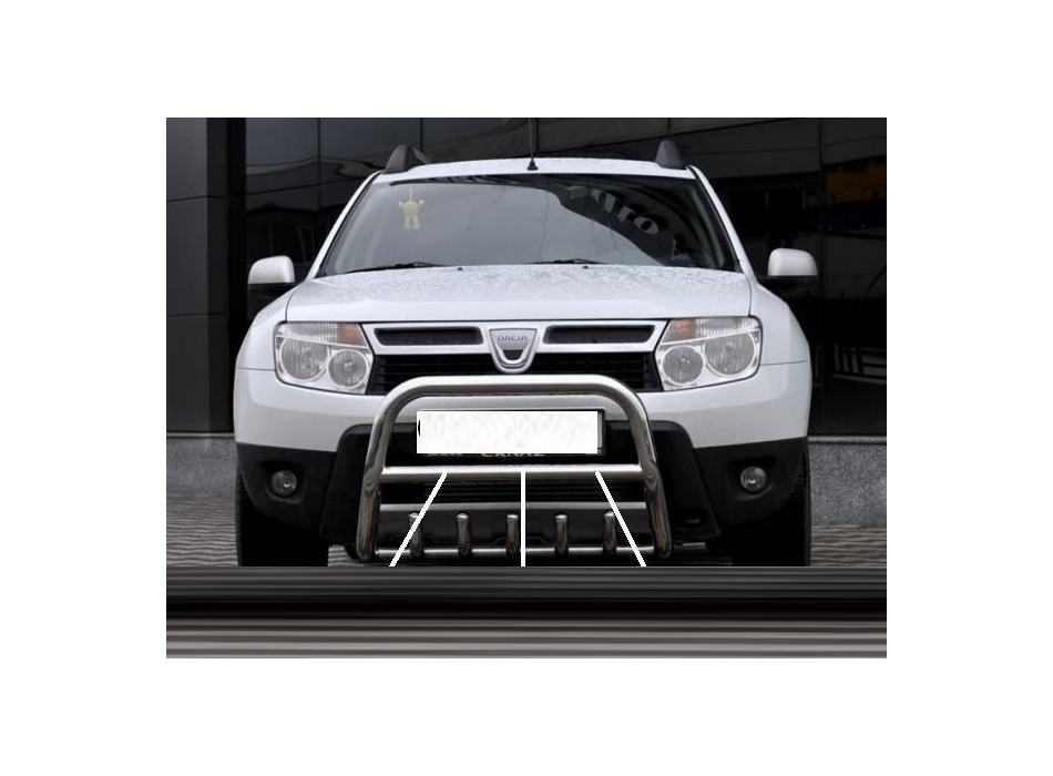 dacia duster front bull bar with bottom grille fgbm01. Black Bedroom Furniture Sets. Home Design Ideas