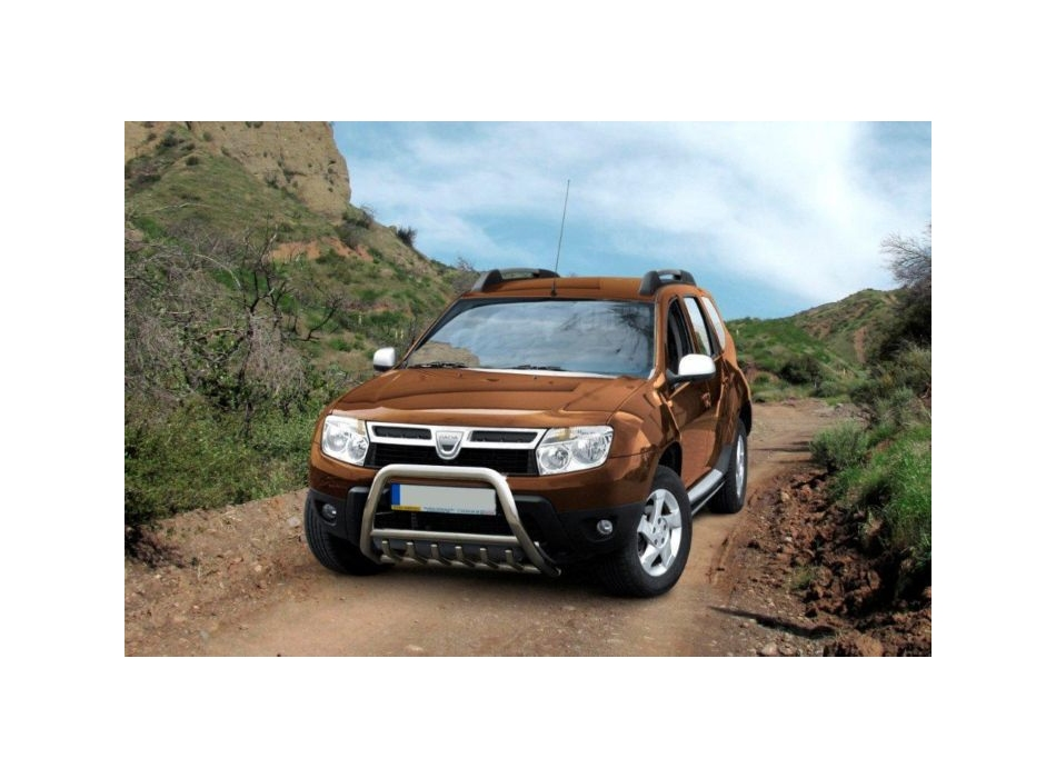 Dacia Duster Front Bull Bar With Bottom Grille And Logo Fgbm02