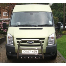 FORD Transit Mk7 Front High Bull-Bar With Lower Grille and Logo FGBH02