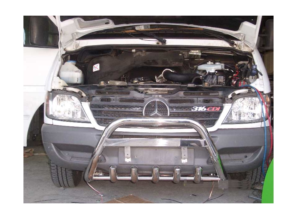Mercedes sprinter mk1 w901 903 front bull bar with bottom for Mercedes benz sprinter bull bar