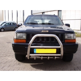 JEEP Cherokee ZJ 93-98 Front High Bull-Bar With Lower Grille FGBH01