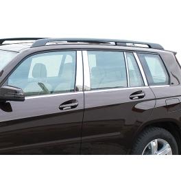 BMW X1 E84  Door Pillars 6 pieces Chrome S. Steel 304