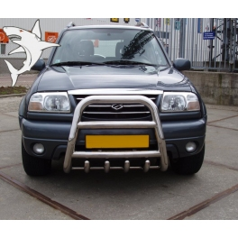 SUZUKI Grand Vitara Mk2 Front High Bull-Bar With Lower Grille FGBH01