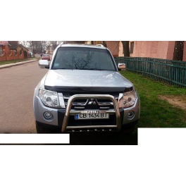 MITSUBISHI Pajero Shogun Mk4 Front High Bull-Bar With Lower Grille and Logo FGBH02