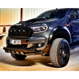 Ford Ranger 2016+ Shark Front City bar BLACK  SFCB01