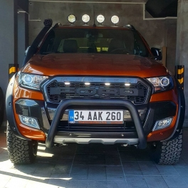 Ford Ranger 2016+ Front A-Bar BLACK FBBM01