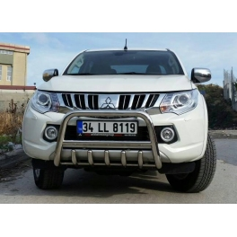 MITSUBISHI L200 2016+ Front Bull-Bar With Bottom Grille FGBM01