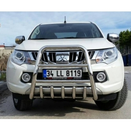 MITSUBISHI L200 2016+ Front High  Bull-Bar With Bottom Grille FGBH01